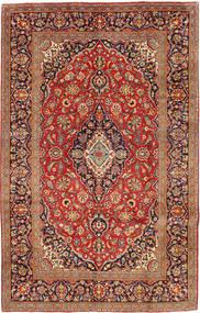 Kashan Covor 192X306 Orientale Lucrat Manual Roșu-Închis/Maro Deschis (Lână, Persia/Iran)