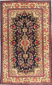 Kerman Covor 144X233 Orientale Lucrat Manual Roșu-Închis/Mov Închis (Lână, Persia/Iran)