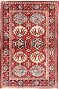 Kashan Covor 130X197 Orientale Lucrat Manual Roșu-Închis/Ruginiu (Lână, Persia/Iran)