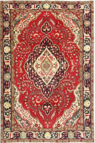 Tabriz Covor 200X298 Orientale Lucrat Manual Roșu-Închis/Maro Închis (Lână, Persia/Iran)