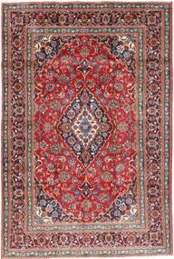 Mashhad Covor 191X284 Orientale Lucrat Manual Gri Închis/Roșu-Închis (Lână, Persia/Iran)