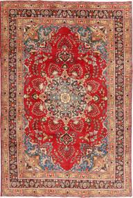Mashhad Covor 197X295 Orientale Lucrat Manual Ruginiu/Roșu-Închis (Lână, Persia/Iran)