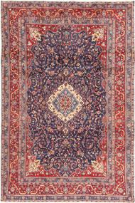 Hamadan Shahrbaf Covor 205X316 Orientale Lucrat Manual Gri Închis/Ruginiu (Lână, Persia/Iran)