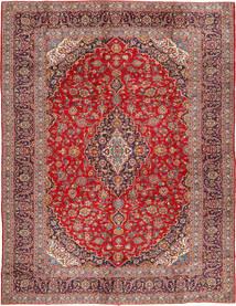 Kashan Covor 290X390 Orientale Lucrat Manual Roșu-Închis/Ruginiu Mare (Lână, Persia/Iran)