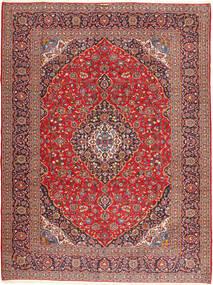 Kashan Signature : Kashan Emami Covor 303X406 Orientale Lucrat Manual Roșu-Închis/Maro Închis Mare (Lână, Persia/Iran)