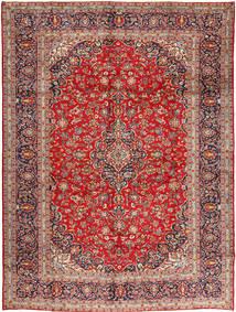 Kashan Covor 305X410 Orientale Lucrat Manual Roșu-Închis/Ruginiu Mare (Lână, Persia/Iran)