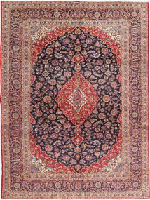 Kashan Signature : Kashan Ghotbi Covor 295X395 Orientale Lucrat Manual Ruginiu/Mov Închis Mare (Lână, Persia/Iran)
