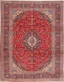 Kashan Covor 303X388 Orientale Lucrat Manual Roșu-Închis/Ruginiu Mare (Lână, Persia/Iran)