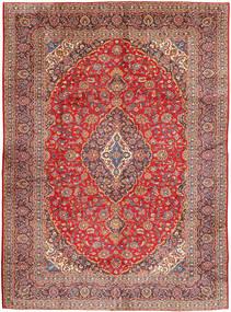 Kashan Covor 290X400 Orientale Lucrat Manual Roșu-Închis/Ruginiu Mare (Lână, Persia/Iran)