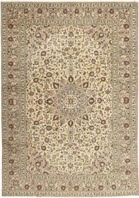 Kashan Covor 285X408 Orientale Lucrat Manual Gri Deschis/Bej Mare (Lână, Persia/Iran)