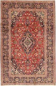 Kashan Covor 198X310 Orientale Lucrat Manual Roșu-Închis/Maro Închis (Lână, Persia/Iran)