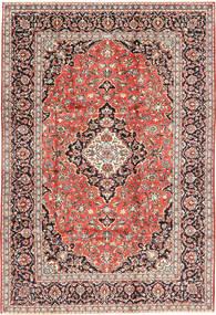 Kashan Covor 202X300 Orientale Lucrat Manual Maro Deschis/Roșu-Închis (Lână, Persia/Iran)