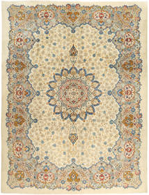 Kashan Covor 293X388 Orientale Lucrat Manual Bej Închis/Bej Mare (Lână, Persia/Iran)