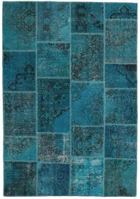 Patchwork Covor 159X230 Modern Lucrat Manual Albastru Închis/Întuneric Turquoise (Lână, Turcia)