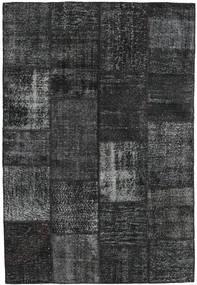 Patchwork Covor 159X233 Modern Lucrat Manual Negru/Gri Închis (Lână, Turcia)
