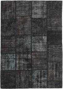 Patchwork Covor 158X230 Modern Lucrat Manual Negru/Gri Închis (Lână, Turcia)