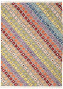 Spring Chilim Covor 210X290 Modern Lucrate De Mână Gri Deschis/Bej Închis (Lână, India)