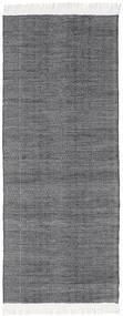 Diamond Lână - Negru Covor 80X240 Modern Lucrate De Mână Roşu Închis/Gri Deschis/Gri Închis (Lână, India)