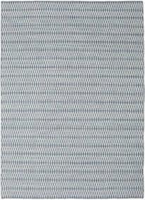 Chilim Long Stitch - Albastru Covor 210X290 Modern Lucrate De Mână Gri Deschis/Albastru Deschis (Lână, India)