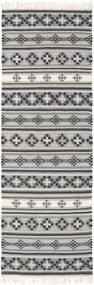 Chilim Cizre Covor 80X250 Modern Lucrate De Mână Gri Deschis/Gri Închis (Lână, India)