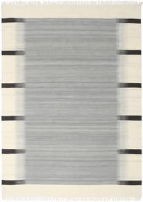 Ikat - Gri Covor 210X290 Modern Lucrate De Mână Albastru Turcoaz/Bej (Lână, India)
