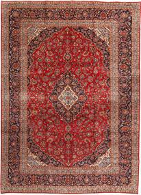 Kashan Covor 292X408 Orientale Lucrat Manual Roșu-Închis/Ruginiu Mare (Lână, Persia/Iran)