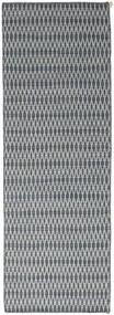 Chilim Long Stitch - Albastru Covor 80X240 Modern Lucrate De Mână Gri Deschis/Albastru (Lână, India)