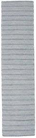 Chilim Long Stitch - Albastru Covor 80X340 Modern Lucrate De Mână Gri Deschis/Albastru Deschis (Lână, India)