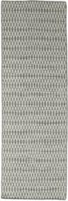 Chilim Long Stitch - Gri Covor 80X240 Modern Lucrate De Mână Gri Deschis/Gri Închis (Lână, India)