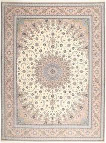 Isfahan Urzeală De Mătase Covor 315X420 Orientale Lucrat Manual Gri Deschis/Bej Mare (Lână/Mătase, Persia/Iran)