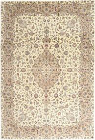 Kashan Covor 243X350 Orientale Lucrat Manual Bej/Gri Deschis (Lână, Persia/Iran)