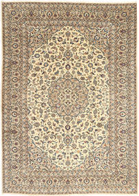 Kashan Covor 250X352 Orientale Lucrat Manual Bej/Bej Închis Mare (Lână, Persia/Iran)