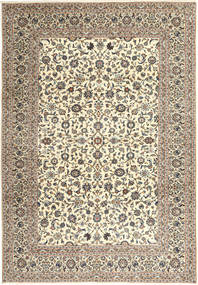 Kashan Covor 249X358 Orientale Lucrat Manual Gri Deschis/Bej Închis (Lână, Persia/Iran)