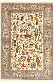 Ilam Sherkat Farsh Mătase Covor 150X220 Orientale Lucrat Manual Bej/Maro/Maro Deschis (Lână/Mătase, Persia/Iran)