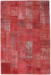Patchwork Covor 204X302 Modern Lucrat Manual Roșu-Închis/Roşu (Lână, Turcia)