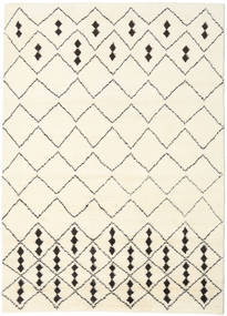 Berber Indo - Off-White/Negru Covor 210X290 Modern Lucrat Manual Bej/Bej-Crem (Lână, India)