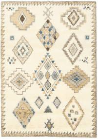 Berber Indo - Alburiu/Bej Covor 140X200 Modern Lucrat Manual Bej/Bej-Crem (Lână, India)