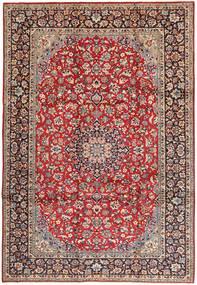 Najafabad Covor 250X360 Orientale Lucrat Manual Roșu-Închis/Maro Mare (Lână, Persia/Iran)