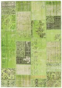 Patchwork Covor 161X232 Modern Lucrat Manual Lumina Verde/Verde (Lână, Turcia)