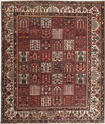 Bakthiari Patina Covor 278X330 Orientale Lucrat Manual Roșu-Închis/Maro Mare (Lână, Persia/Iran)