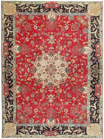 Tabriz Patina Semnat: Bradaran Covor 283X385 Orientale Lucrat Manual Roșu-Închis/Maro Închis Mare (Lână, Persia/Iran)