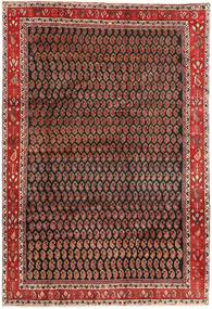 Arak Covor 199X290 Orientale Lucrat Manual Maro Închis/Roșu-Închis (Lână, Persia/Iran)
