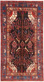 Nahavand Covor 151X292 Orientale Lucrat Manual Roșu-Închis/Maro Închis (Lână, Persia/Iran)