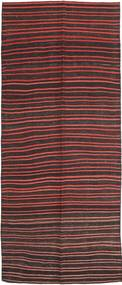 Chilim Fars Covor 143X360 Orientale Lucrate De Mână Maro Închis/Roșu-Închis (Lână, Persia/Iran)