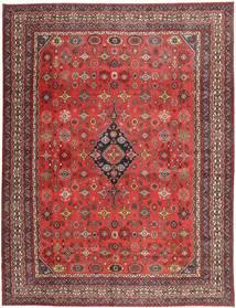 Hamadan Shahrbaf Patina Covor 313X413 Orientale Lucrat Manual Roșu-Închis/Ruginiu Mare (Lână, Persia/Iran)