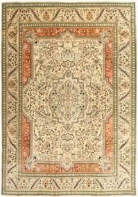 Tabriz Patina Covor 270X379 Orientale Lucrat Manual Bej Închis/Bej/Maro Deschis Mare (Lână, Persia/Iran)