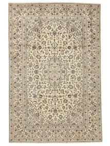 Kashan Covor 238X355 Orientale Lucrat Manual Bej/Bej Închis/Gri Deschis (Lână, Persia/Iran)