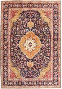 Tabriz Covor 242X343 Orientale Lucrat Manual Roșu-Închis/Maro Închis (Lână, Persia/Iran)