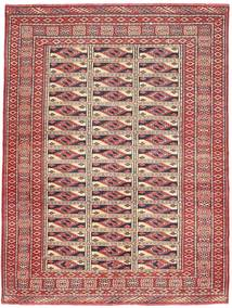 Turkaman Patina Covor 131X177 Orientale Lucrat Manual Roșu-Închis/Maro (Lână, Persia/Iran)