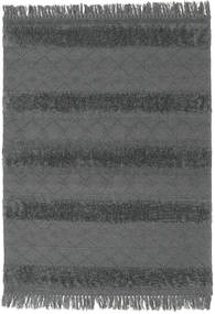 Chilim Berber Ibiza - Soft Grey Covor 140X200 Modern Lucrate De Mână Negru/Albastru (Lână, India)